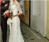 Foto в Одежда и обувь Свадебные платья Элегантное кружевное свадебное платье со в Омске 15000