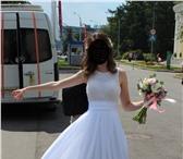 """Изображение в Одежда и обувь Свадебные платья Продается свадебное платье. Белое. Верх """"майка"""" в Москве 10000"""